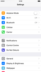 Apple iPhone 6 iOS 8 - Mobile phone - Resetting to factory settings - Step 4