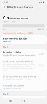 Samsung Galaxy S20 - Internet et connexion - Désactiver la connexion Internet - Étape 7