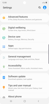 Samsung Galaxy Note 10 - Mobile phone - Resetting to factory settings - Step 4