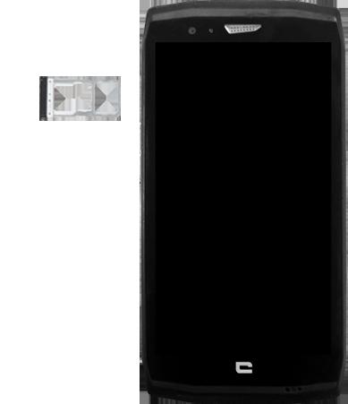 Crosscall Trekker X4 - Premiers pas - Insérer la carte SIM - Étape 3