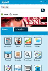 Nokia C7-00 - Internet - Sites web les plus populaires - Étape 2