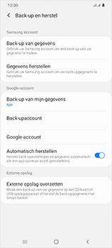 Samsung Galaxy S20 Ultra 5G Dual SIM eSIM SM-G988B - Instellingen aanpassen - Back-up maken in je account - Stap 9