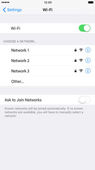 Apple Apple iPhone 6s Plus iOS 10 - Wi-Fi - Connect to Wi-Fi network - Step 5