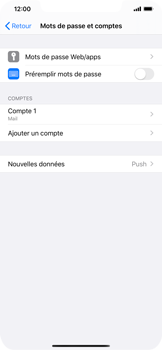 Apple iPhone XS Max - iOS 13 - E-mail - Configuration manuelle - Étape 17