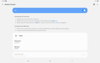 Samsung Galaxy Tab S7 - WiFi - So aktivieren Sie einen WLAN-Hotspot - Schritt 12
