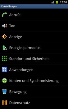 Samsung N7000 Galaxy Note - Fehlerbehebung - Handy zurücksetzen - Schritt 6