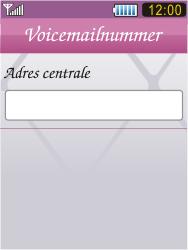 Samsung S7070 Diva - Voicemail - Handmatig instellen - Stap 6