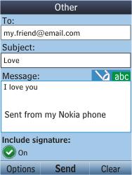 Nokia C2-05 - E-mail - Sending emails - Step 11