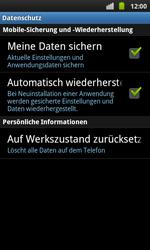 Samsung Galaxy S Plus - Fehlerbehebung - Handy zurücksetzen - 7 / 10