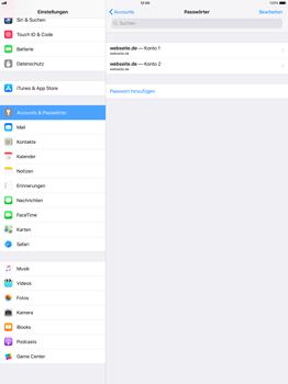 Apple iPad Pro 12.9 inch - iOS 11 - Anmeldedaten hinzufügen/entfernen - 8 / 12