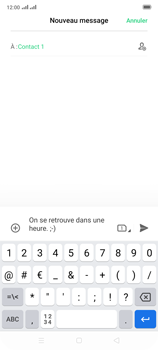 Oppo Reno 2 - Contact, Appels, SMS/MMS - Envoyer un SMS - Étape 11