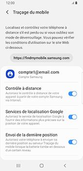 Samsung Galaxy S9 Android Pie - Appareil - Configurer Localiser mon appareil - Étape 9