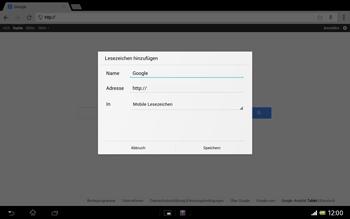 Sony Xperia Tablet Z LTE - Internet und Datenroaming - Verwenden des Internets - Schritt 8