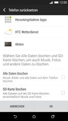HTC Desire 620 - Fehlerbehebung - Handy zurücksetzen - 8 / 11