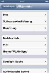 Apple iPhone 4 - Netzwerk - Netzwerkeinstellungen ändern - 4 / 5