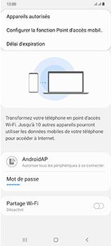 Samsung Galaxy A70 - Internet et connexion - Partager votre connexion en Wi-Fi - Étape 8