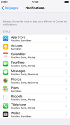 Apple iPhone 6 iOS 10 - iOS features - Personnaliser les notifications - Étape 4