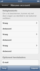 Apple iPhone 5 - Applicaties - Account instellen - Stap 9