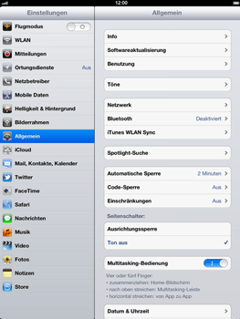 Apple iPad 3 - Ausland - Auslandskosten vermeiden - Schritt 5