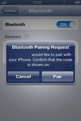 Apple iPhone 4S - Bluetooth - Connecting devices - Step 8