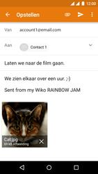 Wiko Rainbow Jam - Dual SIM - E-mail - E-mails verzenden - Stap 14