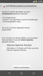 Sony Xperia Z1 Compact - Fehlerbehebung - Handy zurücksetzen - 8 / 11