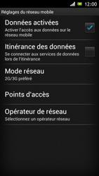 Sony Xperia J - Internet et roaming de données - Désactivation du roaming de données - Étape 7