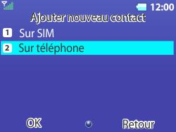 Bouygues Telecom Bc 311 - Contact, Appels, SMS/MMS - Ajouter un contact - Étape 5