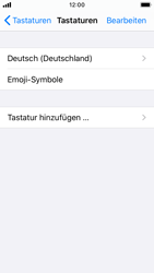 Apple iPhone SE - iOS 13 - Startanleitung - So fügen Sie eine Tastatursprache hinzu - Schritt 6