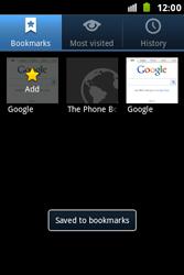 Samsung S7500 Galaxy Ace Plus - Internet - Internet browsing - Step 9