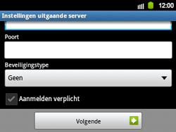 Samsung B5510 Galaxy TXT - E-mail - Handmatig instellen - Stap 11