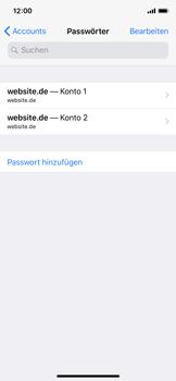 Apple iPhone X - iOS 11 - Anmeldedaten hinzufügen/entfernen - 2 / 2