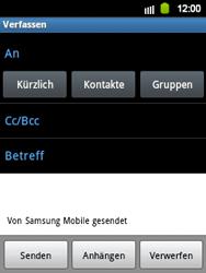 Samsung S5360 Galaxy Y - E-Mail - E-Mail versenden - Schritt 5