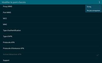 Samsung T805 Galaxy Tab S - Internet et roaming de données - Configuration manuelle - Étape 15
