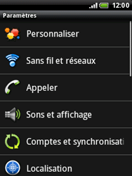 HTC A3333 Wildfire - Messagerie vocale - configuration manuelle - Étape 5