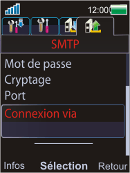 Sony W595 - E-mail - Configuration manuelle - Étape 19