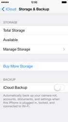 Apple iPhone 5s - Applications - Configuring the Apple iCloud Service - Step 12