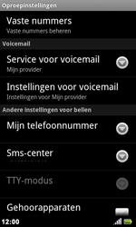 Acer Liquid Metal S120 - Voicemail - handmatig instellen - Stap 5