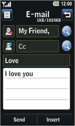 LG GD510 Pop - E-mail - Sending emails - Step 9