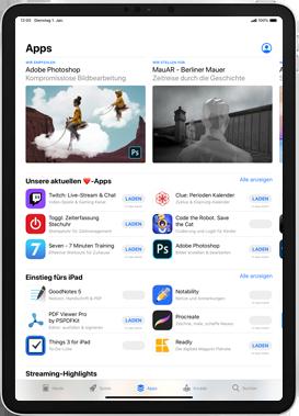 Apple iPad 9.7 (2018) - iPadOS 13 - Apps - Installieren von Apps - Schritt 7