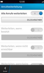 BlackBerry Z10 - Anrufe - Rufumleitungen setzen und löschen - Schritt 12
