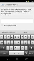 Sony Xperia V - E-Mail - Manuelle Konfiguration - Schritt 5