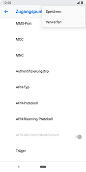 Google Pixel 3 - MMS - Manuelle Konfiguration - 16 / 26