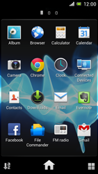 Sony Xperia J - Internet and data roaming - Using the Internet - Step 3