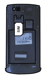 Samsung S8600 Wave 3 - SIM-Karte - Einlegen - Schritt 3