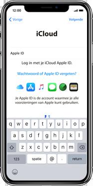 Apple iphone-xs-max-met-ios-13-model-a1921 - Instellingen aanpassen - Activeer het toestel en herstel jouw iCloud-data - Stap 17