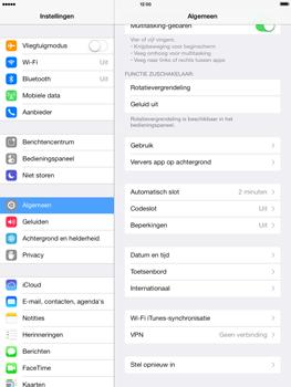 Apple iPad 4th generation (Retina) met iOS 7 - Instellingen aanpassen - Fabrieksinstellingen terugzetten - Stap 4