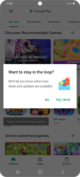 Samsung Galaxy S20 Plus 5G - Applications - Setting up the application store - Step 22