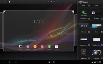 Sony Xperia Tablet Z LTE - Startanleitung - Installieren von Widgets und Apps auf der Startseite - Schritt 4