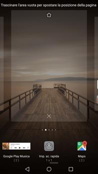 Huawei Mate 9 - Operazioni iniziali - Installazione di widget e applicazioni nella schermata iniziale - Fase 5